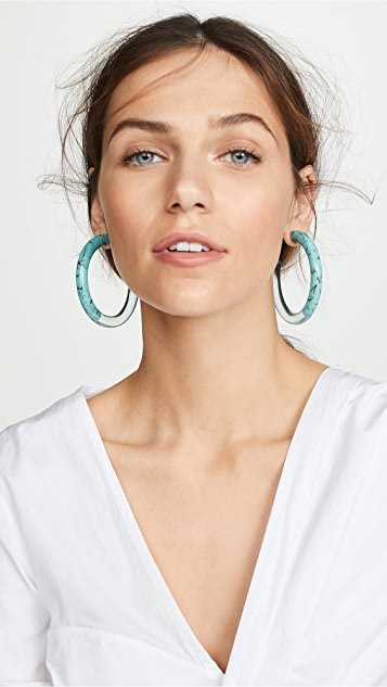 Lele Sadoughi Oversized Broadway Hoop Earrings