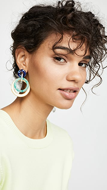 Lele Sadoughi Double Ring Hoop Earrings