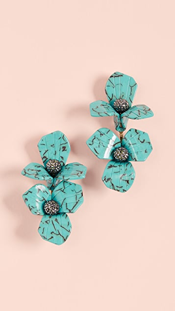 Lele Sadoughi Trillium Bouquet Earrings