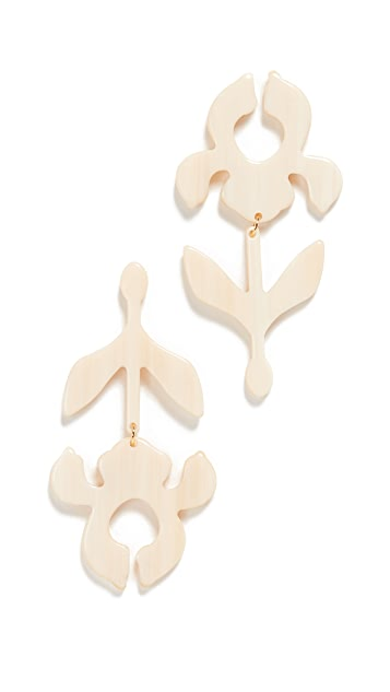 Lele Sadoughi Iris Stem Shadow Earrings