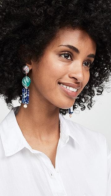 Lele Sadoughi Stacked Stone Earrings