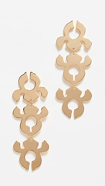 Lele Sadoughi Iris Bouquet Shadow Earrings