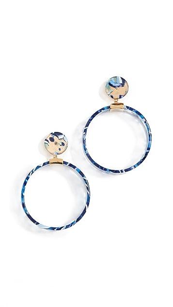 Lele Sadoughi Binocular Hoop Earrings
