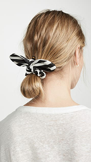 Lele Sadoughi Striped Scrunchie