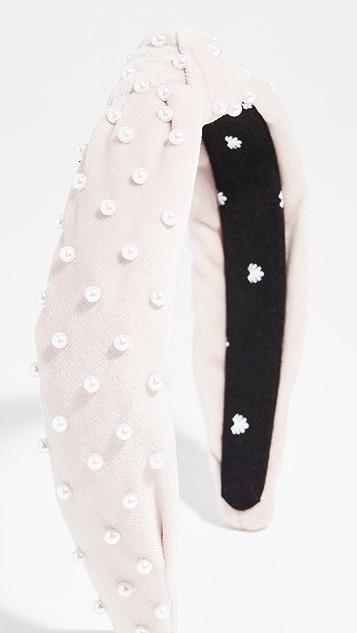 Lele Sadoughi Petite Decorated Velvet Knotted Headband