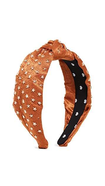 Lele Sadoughi Star Studded Silk Knotted Headband