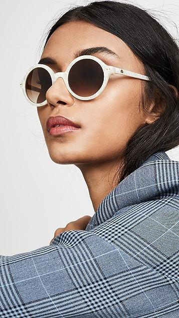 Lele Sadoughi East Village Round Sunglasses