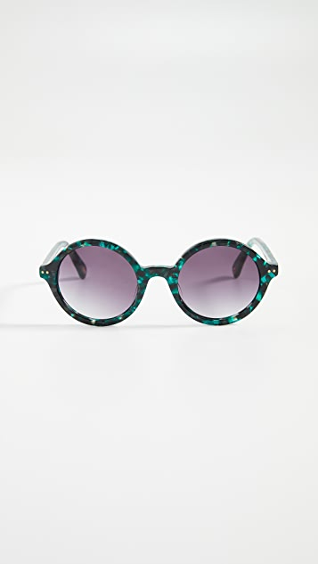 Lele Sadoughi East Village Round Sunglasses
