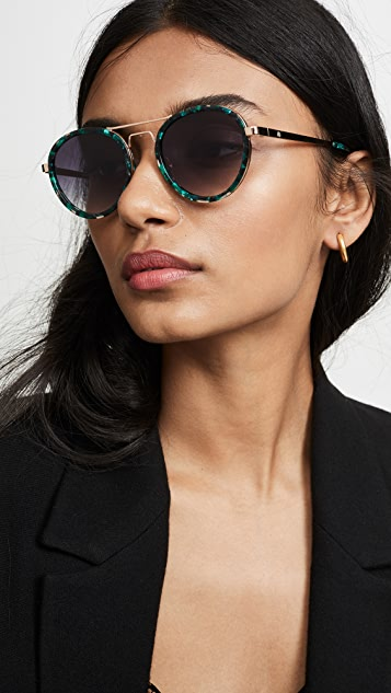 Lele Sadoughi Downtown Aviator Sunglasses