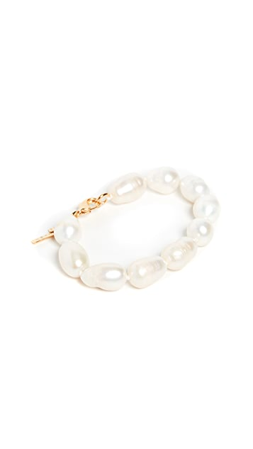 Lele Sadoughi Baroque Freshwater Pearl Bracelet