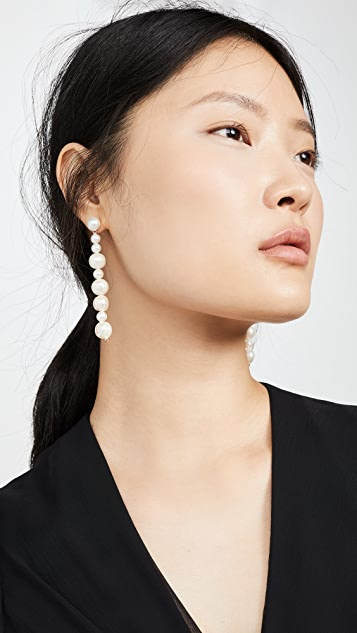 Lele Sadoughi Linear Freshwater Pearl Earrings