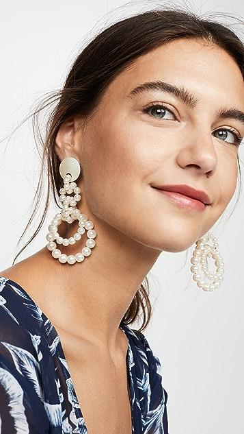 Lele Sadoughi 人造珍珠圈式耳环
