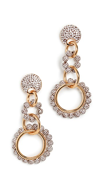 Lele Sadoughi Cyrstal Loop De Loop Earrings