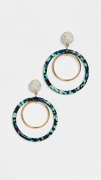 Lele Sadoughi Pave Double Hoop Earrings