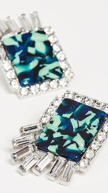 Lele Sadoughi Rectangle Stud Earrings