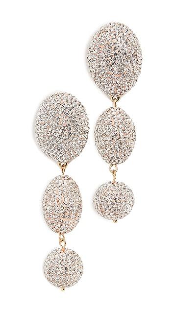 Lele Sadoughi Crystal Bubble Drop Earrings