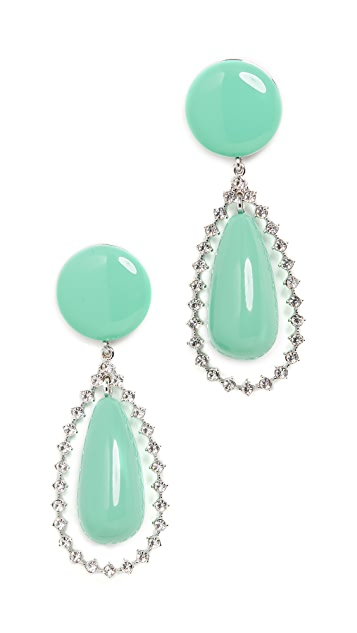 Lele Sadoughi Crystal Tear Drop Earrings