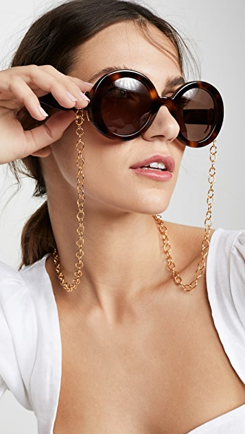 Lele Sadoughi Golden Cable Length Eyeglass Chain