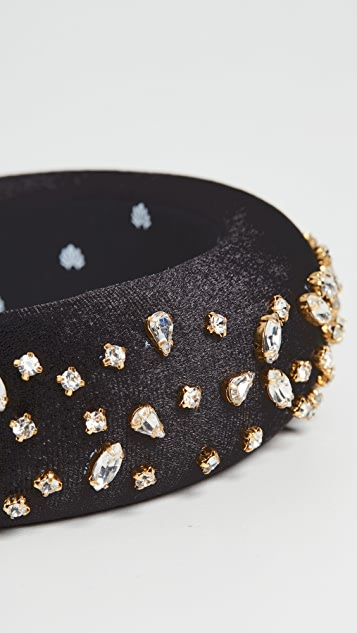 Lele Sadoughi Mixed Shape Crystal Padded Headband