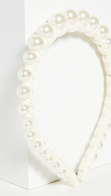 Lele Sadoughi Graduated Imitation Pearl Strand Headband