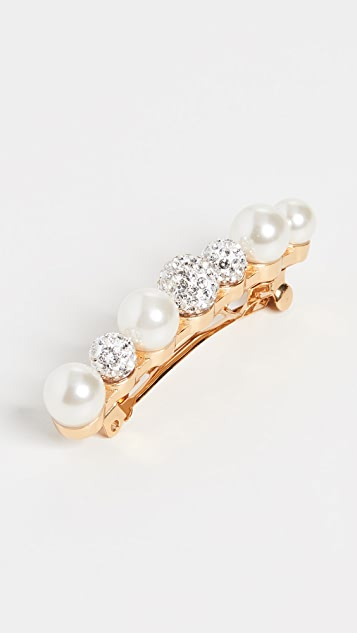 Lele Sadoughi 混合人造珍珠和水晶发夹