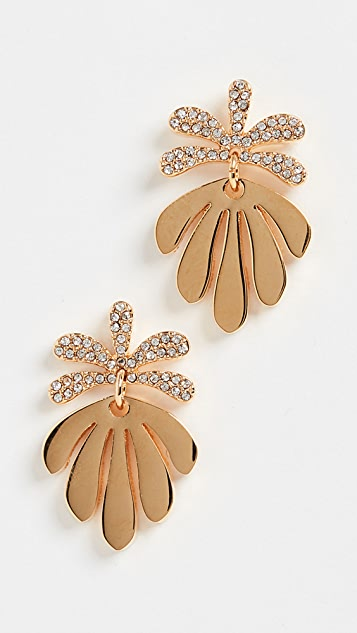 Lele Sadoughi Crystal Vine Drop Earrings