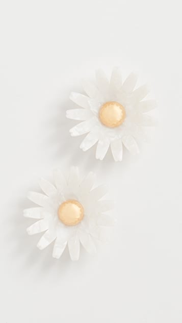 Lele Sadoughi Daisy Button Earrings