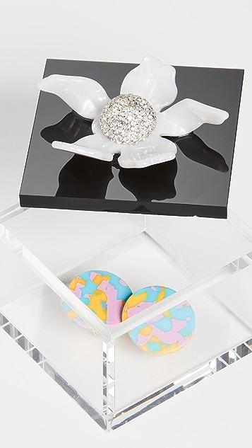 Lele Sadoughi 小号装饰百合花盒子