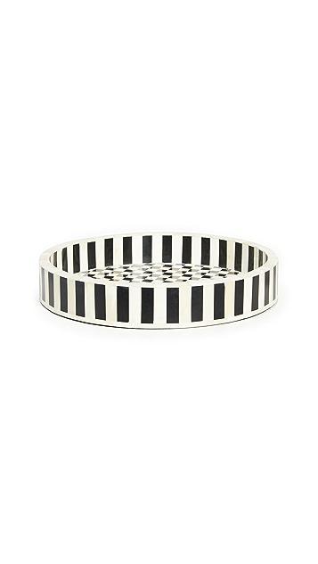 Lele Sadoughi Checkered & Striped Serving Tray