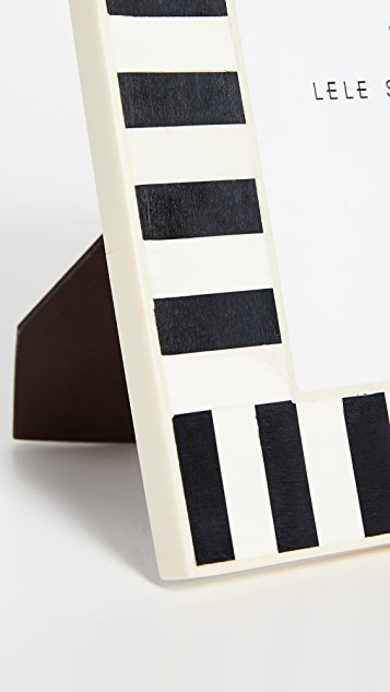 Lele Sadoughi Striped Picture Frame