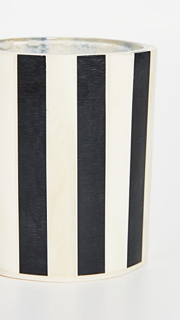 Lele Sadoughi 条纹烛台套装