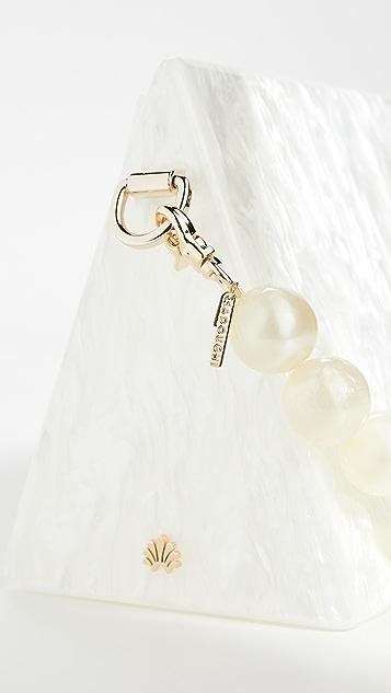 Lele Sadoughi 人造珍珠珠饰肩带人造珍珠贝母密闭包