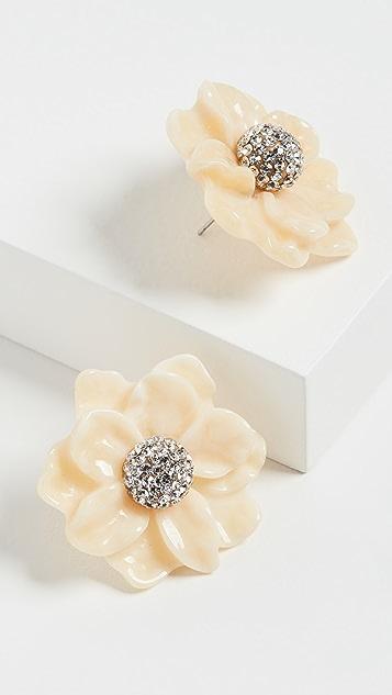 Lele Sadoughi Gardenia 耳钉