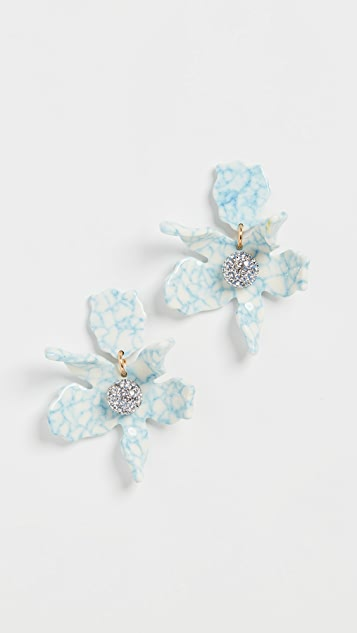 Lele Sadoughi Small Crystal Lily Earrings