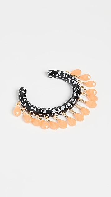Lele Sadoughi Slim Rattle Bracelet
