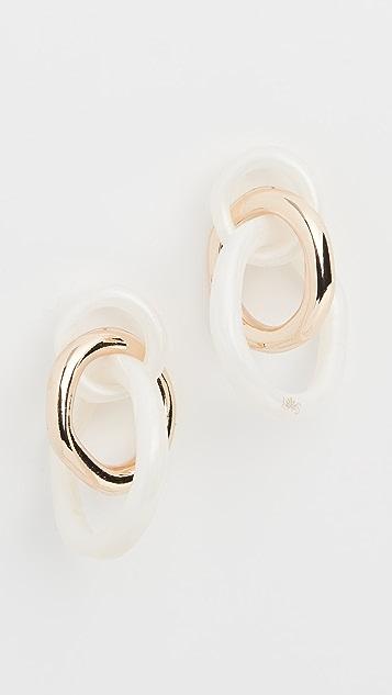 Lele Sadoughi Triple Ring Studs