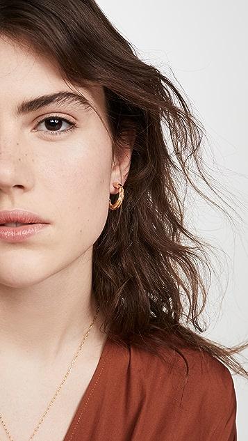 Lele Sadoughi 小巧拱形圈式耳环
