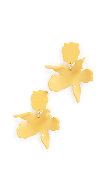 Lele Sadoughi Sunflower Small Paper Lily Earrings