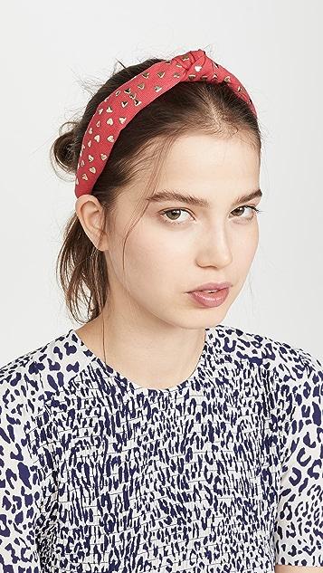 Lele Sadoughi Petite Heart Studded Headband