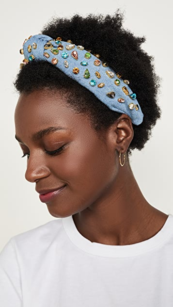 Lele Sadoughi Knotted Candy Jeweled Headband