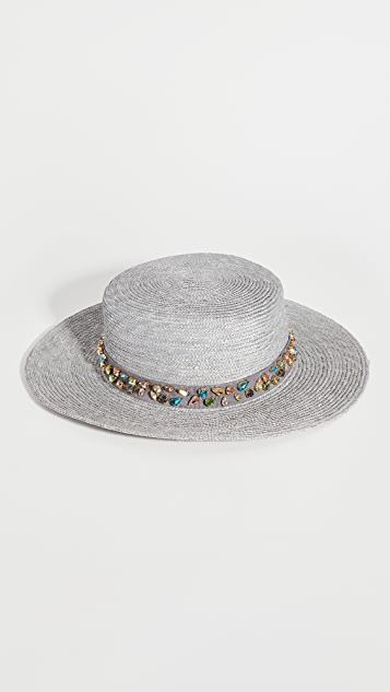 Lele Sadoughi Wheat Straw Hat