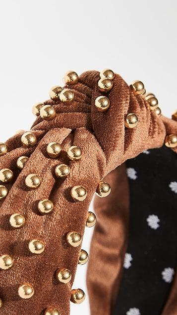 Lele Sadoughi Velvet Embellished Headband