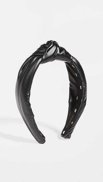 Lele Sadoughi Faux Leather Knotted Headband