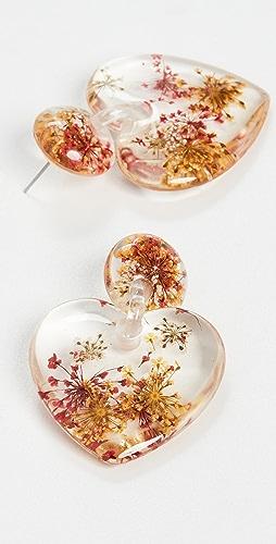 Lele Sadoughi - Dried Floral Heart Earrings