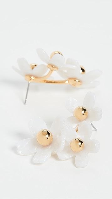 Lele Sadoughi Garden Flower Bouquet 耳钉