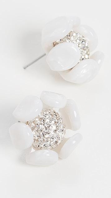 Lele Sadoughi Buttercamp Button Earrings