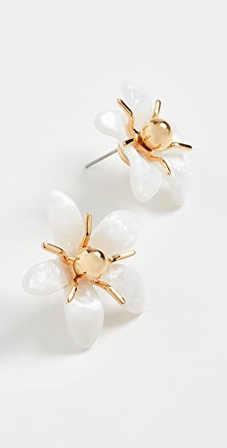 Lele Sadoughi - Trumpet Lilly Button Earrings