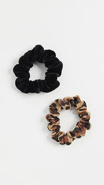 Lele Sadoughi Pair of Shimmer Scrunchies