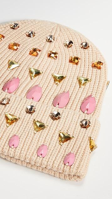 Lele Sadoughi Mixed Jeweled Beanie