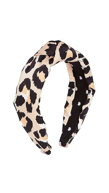 Lele Sadoughi Silk Leopard Knotted Headband